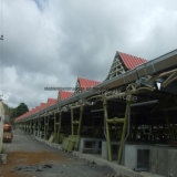 Helles modulares Stahlaufbau-Gebäude für Markt