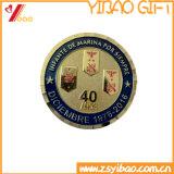 Изготовленный на заказ монетки монетки/сувенира подарка золота 3D с границей колеса