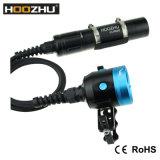 Lanterna elétrica dobro leve do diodo emissor de luz da luz Max4000lm Watrproof 100-200m da foto do mergulho do interruptor da cor de Hoozhu Hv33 quatro para o mergulho