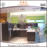 N & L gabinetes de cozinha clássicos da madeira contínua do projeto do carvalho do estilo de país