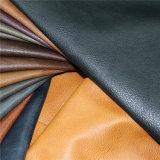 Cuero sintetizado superventas de la PU del material de materia textil con garantía de calidad