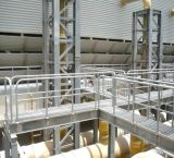 Fabricante de la plataforma de la estructura de acero con la reja de acero