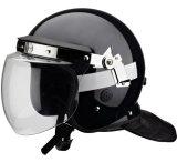 경찰 난동 통제 헬멧과 안전 헬멧