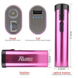 Nachladbarer Selbstverteidigung USB betäuben Taschenlampen-Funktions-Rosa der Gewehr-LED