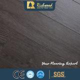 plancher stratifié par HDF foncé de chêne de 12mm