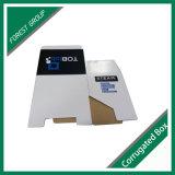 Caixas de embalagem onduladas da placa de papel com as tampas inserir da aleta