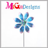 新しい着かれた運動花の風の紡績工の庭の棒