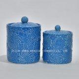 Ora progetta il colore blu con il POT del tè del coperchio, vaso di memoria dell'alimento