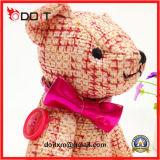 Urso enchido articulado da peluche do urso com braços e pés móveis