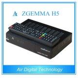 Récepteur satellite jumeau de pointe du système d'exploitation linux Enigma2 de Zgemma H5 de tuners de Hevc/H. 265 DVB-S2+T2/C