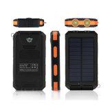 banco móvel da potência do USB do banco impermeável portátil 2 da potência 8000mAh solar