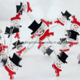 Het Wit van de Decoratie van de Tuin van het Gazon van het Terras van het Huis van het Huwelijk van de Partij van de Lichten van de Fee van de sneeuwman