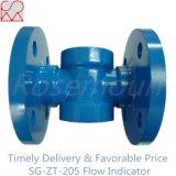 Indicador visual de la corriente de la solapa con la protección azul de la pintura