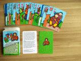 Tarjetas que juegan del juego de tarjeta que corresponden con para los cabritos
