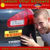 Etichette per paraurti resistenti UV dell'automobile del vinile del PVC di stampa su ordinazione esterna d'avvertimento