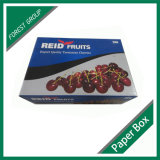 Caixa ondulada da fruta da caixa da fruta e verdura fresca da cereja