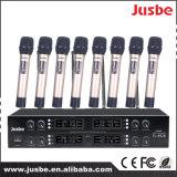 Jusbe FL-8928 UHF 8-Link Pll Micrófono Profesional Profesional Audio Pfessional Sistema de Conferencia inalámbrico Condensador de cuello de cisne Hipercardioide