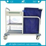 AGSs017b ISOのセリウムの公認の安いステンレス鋼の病院の洗濯のトロリー