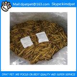 Larvas de farinha secadas volume do amarelo do preço do competidor para o alimento de peixes