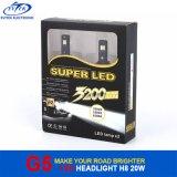 luz principal de la viruta H8 H9 H11 H16jp LED de 20W 2600lm 6000k Osram para la linterna del polo de VW
