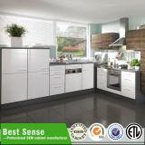 Unidade ajustada elevada moderna disponível do gabinete de cozinha do lustro