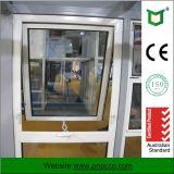 Finestra di alluminio della manovella di profilo con doppio vetro fatto in Cina