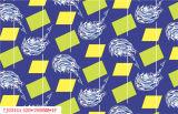 Het LFGB Afgedrukte Materiaal van pvc van het Tafelkleed met Steun (Volledige Kleur)