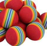 Couleur solide d'EVA d'exercice de bille de golf de 7 couleurs de bille de bille d'intérieur de mousse