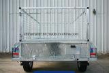 Remorque de service galvanisée par essieu simple avec la cage de 900mm