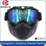 Het Masker van het Gezicht van de Motocross van de motorfiets met Afneembare Beschermende brillen en de Filter van de Mond voor Modulaire Helmen Moto