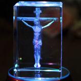 기독교 선물을%s 3D Laser에 의하여 새겨지는 수정같은 교차하는 입방체