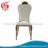 우아 로즈 금 스테인리스 쌓을수 있는 식당 의자