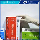 Устранимый порошок перчаток латекса или порошок свободно S/M/L/XL на сбываниях
