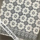 円パターンデザイン綿のナイロンレースファブリック