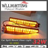 32W LEDの線形バイザーの警報灯棒(こはく色)