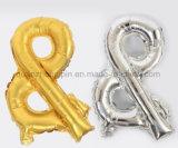 Ballon coloré de papier d'aluminium d'OEM avec le modèle de numéro pour l'usager