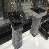 Bacini di marmo neri e dispersori rotondi di Nero Marquina/irregolari