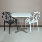 (SP-AT380A) Mesa de jantar dobrável para penteado de plástico branco ao ar livre
