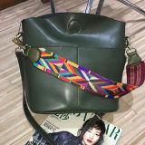 Bolso de compras colorido del hombro del cuero genuino de los bolsos de las mujeres de la manera de la correa Emg4594