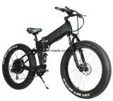 Bicicleta elétrica da suspensão cheia da montanha com o pneu 4.0