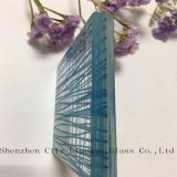 파란 박판으로 만들어진 유리 장식적인