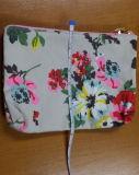 최신 판매 꽃 인쇄 면 화포 부대 끈달린 가방