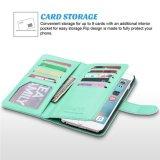 caixa/tampa sintéticas do couro da carteira dos Multi-Entalhes do iPhone 7