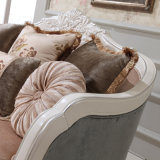 Sede e presidenza di amore di legno antiche del sofà del tessuto per la casa