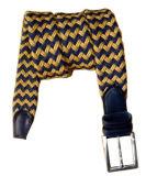 Cinghia Braided del cuoio di alta qualità e dell'uomo della stringa del cotone (RS-131256B)