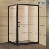 Rectángulo de aluminio Negro personalizado Tamaño espacio para duchas (BL-F3013)