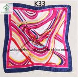Écharpe de mode estampée par foulard en soie chaud de satin de la vente 50*50cm pour le cadeau