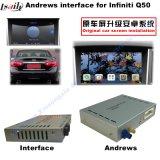 Interfaz video de la navegación androide del GPS para Infiniti Q50