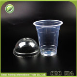 360ml/12oz Disposable Plastic Coffee Cups met Dome Lids of Flat Lids