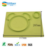 2017 ODM Meal Table Mat para bebê New Silicone Placemat Food Plate
